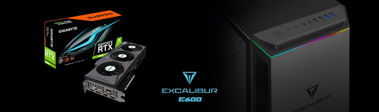 Excalibur E600 Oyun Bilgisayarı Yeni NVDIA Ekran Kartları ile Satışta!